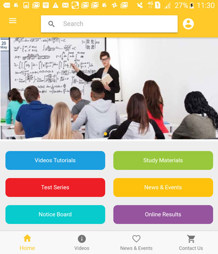 Coaching Institute App Development