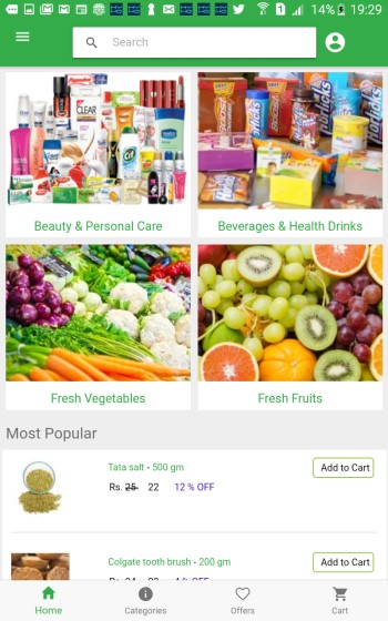 Grocery Store Mobile App Development